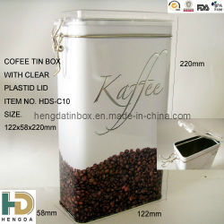China Coffee Tin Can Factory mit Airtight Plastic Lid Tin Can