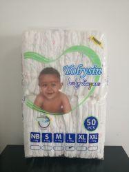 よい高品質の等級B Stocklotの赤ん坊の製品の赤ん坊のおむつの柔らかい卸し売り赤ん坊のおむつのカスタム使い捨て可能な赤ん坊のおむつ