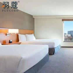 Venda por grosso de 100% algodão Tampa Edredon Lençol Fronha Hotel Luxury Stripe extras
