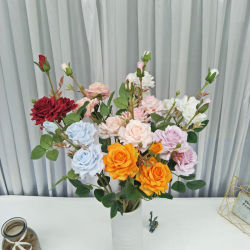 Bon Marché de fleurs en soie Fleurs artificielles de la Chine pour la décoration de mariage