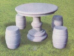 Jeu de table en granit Tables et bancs en pierre de plein air