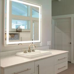 水平の縦の対面照らされたLEDの浴室ミラーはタッチセンサーをつける