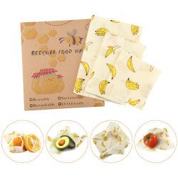 Commerce de gros FDA/LFGB certifié coton biologique de la cire réutilisable Food Wrap