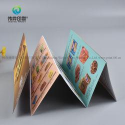 Venda a quente Folheto Folheto promocional de impressão de brochura Menu alimentar