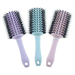PROhaar-Pinsel mit Eber-Borste, rundes, großes Haar-kräuselnpinsel - Pinsel-Farbe mag sich unterscheiden