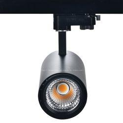 مصباح إضاءة الجنزير 30 واط مصباح ضوء مصباح ضوء مصباح ضوء LED لسكك الحديد ضوء التتبع المتغير للاتجاه الأسود والأبيض