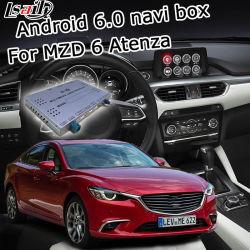 Lsailt Mazda 6 Atenza Mzd를 위한 인조 인간 GPS 항해 체계 상자는 영상 공용영역 손잡이 통제 Waze를 연결한다