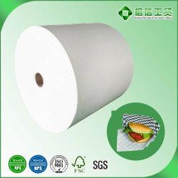 Papel recubierto de PE para el Hamburger Sandwich envoltura resistente a la Grasa de alimentos de calidad alimentaria de Papel en rollo Jumbo