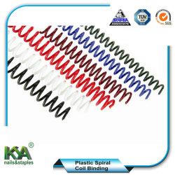 Bobina de espiral de plástico para Escritório Suprimentos de encadernação e papelaria