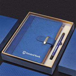 Diseños personalizados en PVC PU A5 papel Moleskine cuaderno de tapa dura de cuero