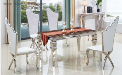 Fabricado en China Gold Metel belleza ala parte heces para sillas de salón de bodas