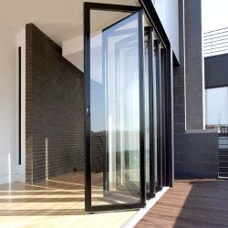 Niedrige-e Glasakkordeon-Küche-kundenspezifische Bi-Falten-Aluminiumfalz-Türen für Veranda