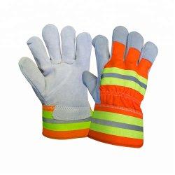 De weerspiegelende Beschermende Handschoenen van de Veiligheid van de Handschoen van het Werk van het Leer