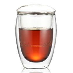 Vaso de té El té rojo taza taza taza de té verde con filtro taza de té de Pyrex con Infuser
