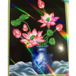 2020 Prezzo a buon mercato Drill Partful Lotus Still Life 5D Diamond Pittura su tela