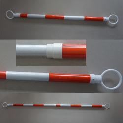 Nastro riflettente arancione da 6'-10' barra cono in PVC di sicurezza in plastica regolabile