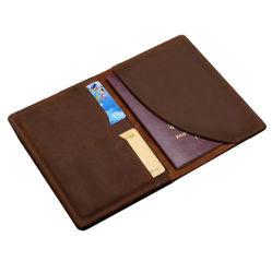 Passaporte de couro de alta qualidade Homem Wallet para viagens