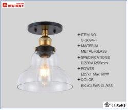 Indicatore luminoso di soffitto di vetro residenziale moderno per il negozio dell'interno dell'hotel