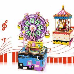 игрушки головоломки деревянных Multi-Color детей подарка коробки нот 3D воспитательные для декора дома младенца малышей