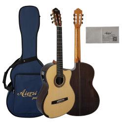 Aiersi Meilleures Marques Handmade Electric Smallman guitare classique pour la vente