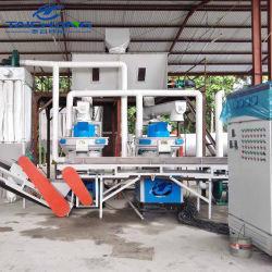 Taichang 1-3T/H de la biomasa Ce la línea de producción de pellets de madera