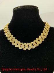 2020 de Hete het Verkopen Juwelen van de Manier van Hip Hop van de Ketting Manoco 22 Mensen van de Keten van het Ontwerp Cubaanse 14K 925 Zilveren Stevige Gouden ''/Halsband Bijoux/