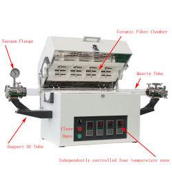 1700C de temperatura alta de depresión Tratamiento Térmico de hornos de tubo de laboratorio
