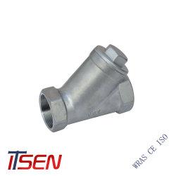 prix d'usine en acier inoxydable 304 Y de la crépine d'extrémité du filetage