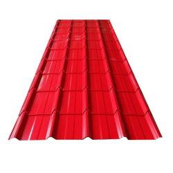 Цветные панели крыши с покрытием цинка из гофрированного картона стальных листа крыши