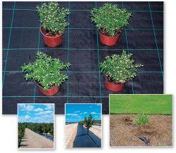 Contrôle des mauvaises herbes Mat la couverture du sol de limon noir tissu PP de clôture de l'aménagement paysager