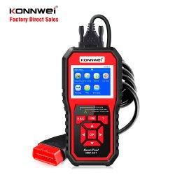 أداة تشخيص السيارات Konnwei Kw850 المزودة بقارئ كود محرك السيارة مع شاشة LCD