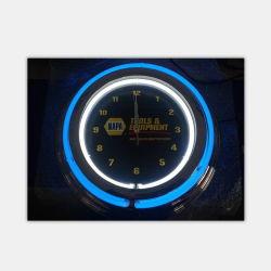 Venda por preço de fábrica na China 15polegadas tubos duplos cromada Design Personalizados vazios de neon de relógio de parede