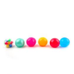 6 TPR matérias da esfera sensorial definida em 5cm de diâmetro