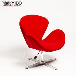 Hot Velet Fabric Swivel Aluminium Base Living Room Hotel Leisure Chair