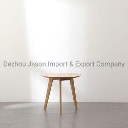 普及した北欧人2のサイズのベニヤMDFのカシの木足の円形のコーヒーテーブルは小型喫茶店表の現代小さい側面表をセットする