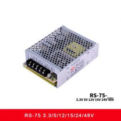 RS-75 시리즈 75W 단일 출력 스위치 전원 공급 장치