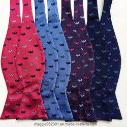 High FASHION 100% soie tissée à l'Hippocampe Jacquared auto Liens Bow Tie pour les hommes