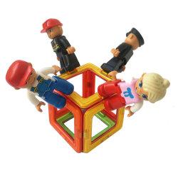 세트 경찰 교사 차 당 소녀 소년 4PCS를 위한 자석 숫자 장난감 사람들 자석 빌딩 블록 확장 장난감