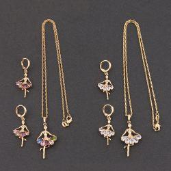 銀製美しい女の子のネックレスのイヤリング925か真鍮の方法宝石類の一定の宝石類