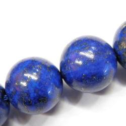 De in het groot Semi Kostbare Lapis lazuli behandelden Parels (om 412mm)