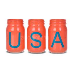 Personnalisable en verre coloré 16 oz Mason Jar Mugs défini sans poignée