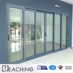 Porte coulissante en aluminium économique en métal avec le loquet de verrouillage de porte en verre
