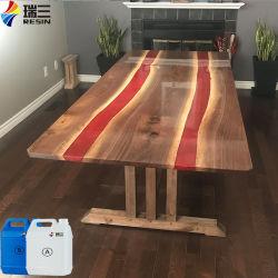 Kunst-Epoxidharz-tiefer Tisch-Kleber für festes Holz