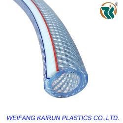 Гибкий / прозрачный шланг ПВХ/PVC волокна экранирующая оплетка усиленная трубопровода водяного шланга трубки