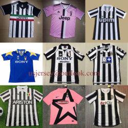 A Juventus F. C Homens Mulheres jovens Throwback casa longe de camisas de futebol Soccer camisolas