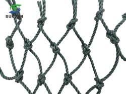 Preiswerte erstklassige Qualitätshohe Hartnäckigkeit-schwärzliche grüne geknotete Ladung-/Fall-Anhalten-/Sicherung-/Fischernetz-/Gestell-Gebäude-Netz-Ski-Netze/Filetarbeit