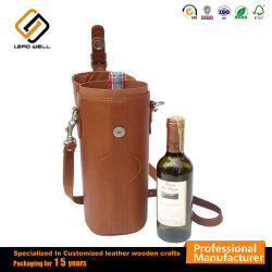 Brown en imitation cuir de luxe des emballages de vin de Champagne