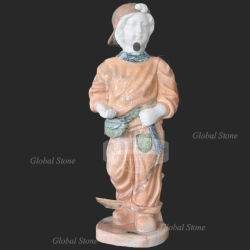 Statue de pierre naturelle Sculpture Sculpture de l'enfant