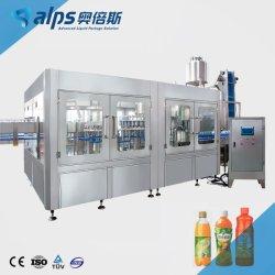 تعبئة ساخنة 3in1 ماكينة تعبئة مياه جوز الهند الأوتوماتيكية للزجاج زجاجة