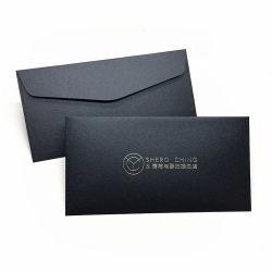 تصميم مخصص ورقة ذهبية فاخرة حافة الديكور أسود شكرا لك مغلف البطاقة